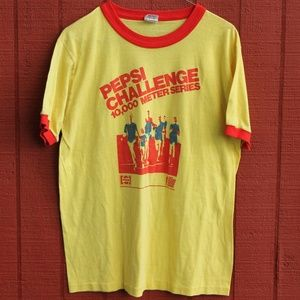 Vintage 80s PEPSI CHALLENGE 10,000 Meter T-Shirt